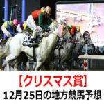 【クリスマス賞】12月25日の地方競馬予想【サンタクロース賞】