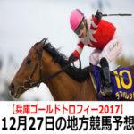 【兵庫ゴールドトロフィー】12月27日の地方競馬予想【サザンクロス賞】