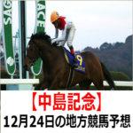 【中島記念】12月24日の地方競馬予想【バートレイ賞】