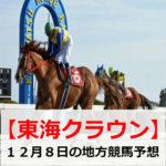【東海クラウン】地方競馬予想【12月8日】