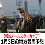 【報知オールスターカップ】1月3日の地方競馬予想【新春賞】