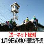【ガーネット特別】1月9日の地方競馬予想【福寿草特別】