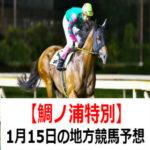 【鯛ノ浦特別】1月15日の地方競馬予想【招福賞】