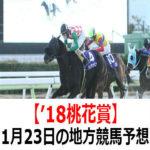 【'18桃花賞】1月23日の地方競馬予想【望春賞】