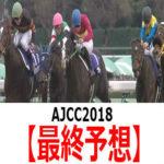 【AJCC2018】予想と土曜馬場の傾向【最終予想】
