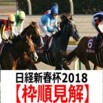 【日経新春杯2018】予想と枠順見解