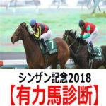 【シンザン記念2018】予想と有力馬診断