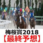 【梅桜賞2018】予想と人気馬診断【最終予想】