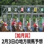 【如月賞】2月3日の地方競馬予想【ウィンタースター特選】