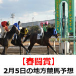 【春闘賞】2月5日の地方競馬予想【紅梅賞】