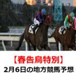 【春告鳥特別】2月6日の地方競馬予想【楽天競馬賞】
