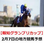【報知グランプリカップ】2月7日の地方競馬予想【海神特別】