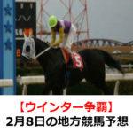 【ウインター争覇】2月8日の地方競馬予想【園田ウインターカップ】