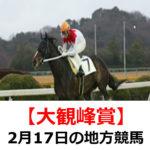 【大観峰賞】2月17日の地方競馬予想【雨水賞】