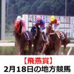 【飛燕賞】2月18日の地方競馬予想【桂浜花海道特別】