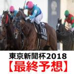 【東京新聞杯2018】予想と馬場傾向【最終予想】