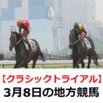 【クラシックトライアル】3月8日の地方競馬予想【スプリングタイム賞】