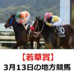 【柏の葉オープンかしわ記念】3月13日の地方競馬予想【若草賞】